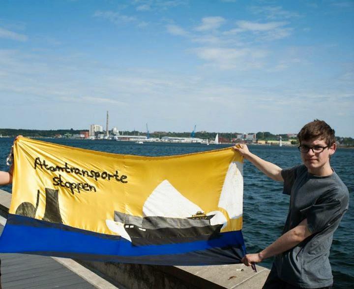 Protest gegen Atomtransporte in Kiel