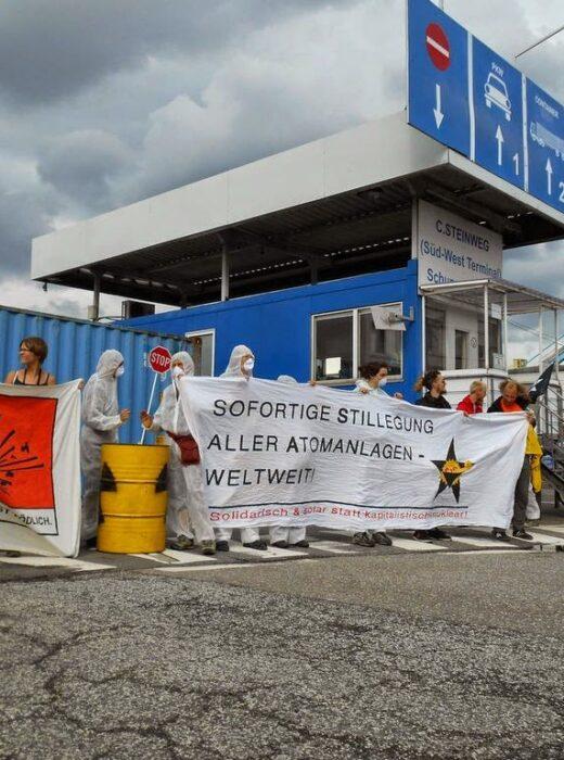 Protest gegen Atomtransporte in Hamburg, C. Steinweg